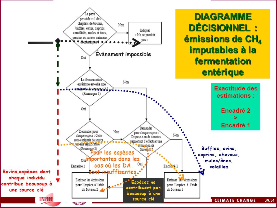 DIAGRAMME DÉCISIONNEL : émissions de CH4 imputables à la fermentation entérique