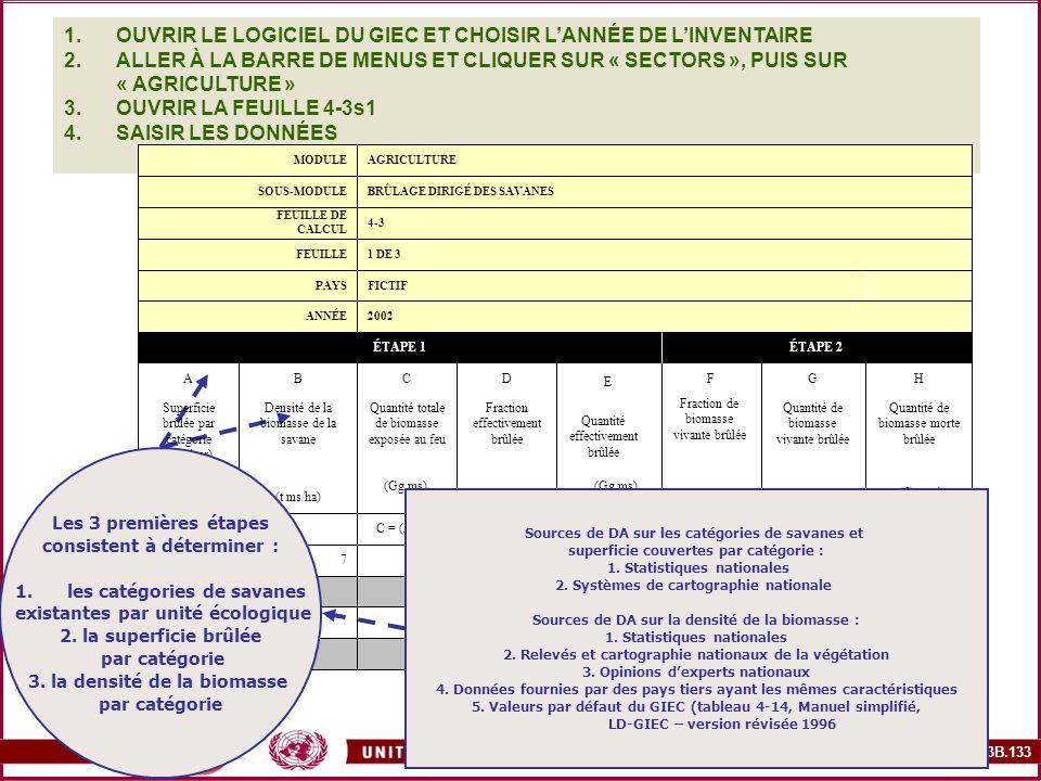 OUVRIR LE LOGICIEL DU GIEC ET CHOISIR L'ANNÉE DE L'INVENTAIRE