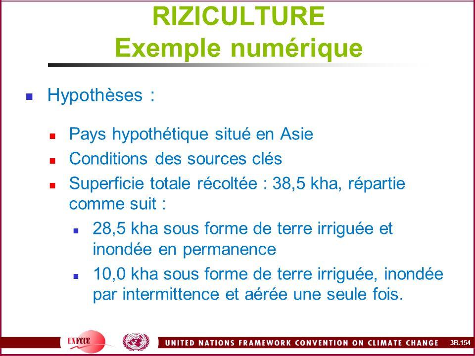RIZICULTURE Exemple numérique