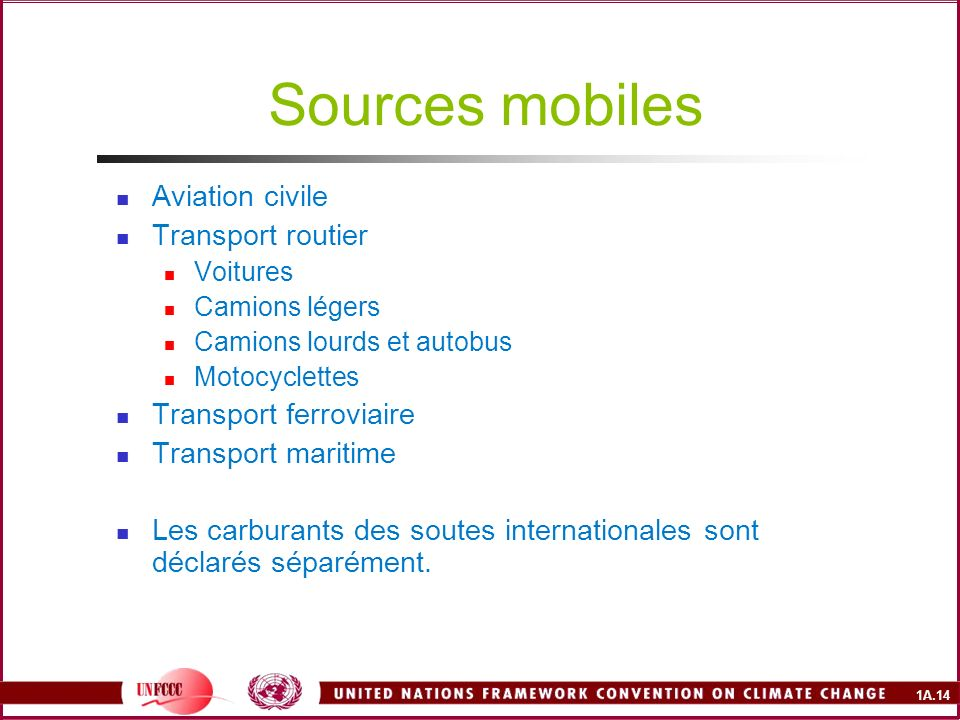 Sources mobiles Aviation civile Transport routier