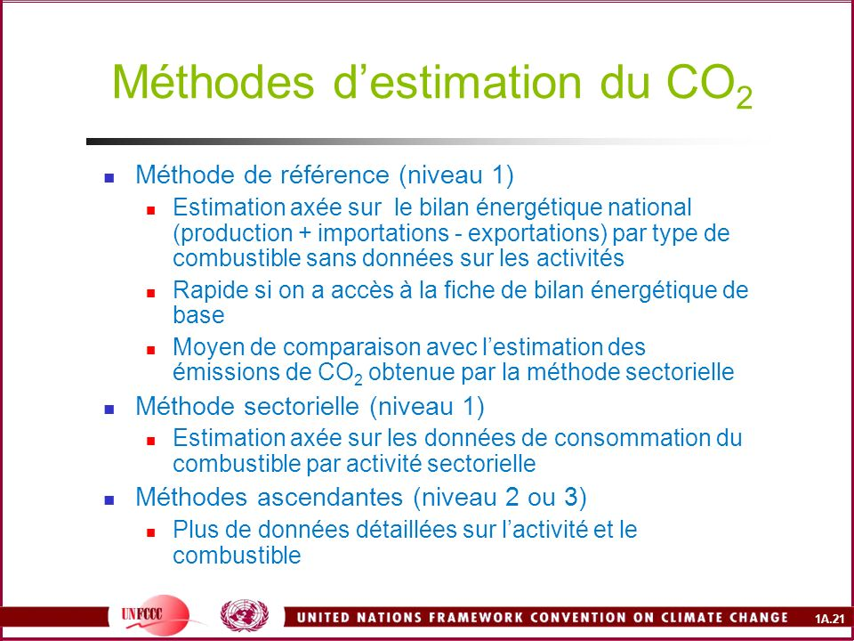 Méthodes d'estimation du CO2