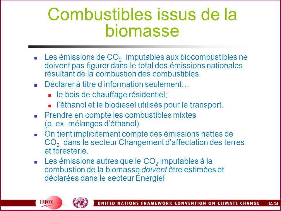 Combustibles issus de la biomasse