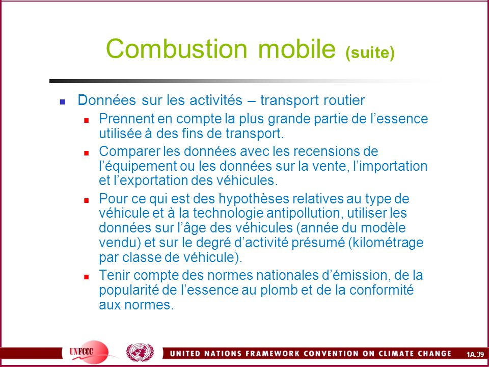 Combustion mobile (suite)