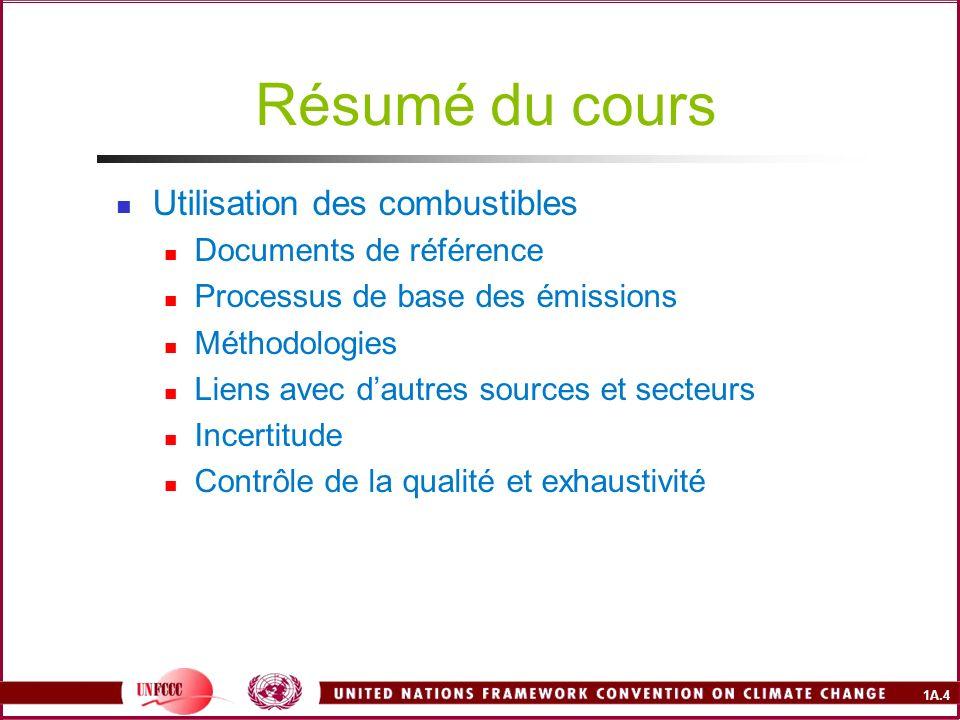 Résumé du cours Utilisation des combustibles Documents de référence
