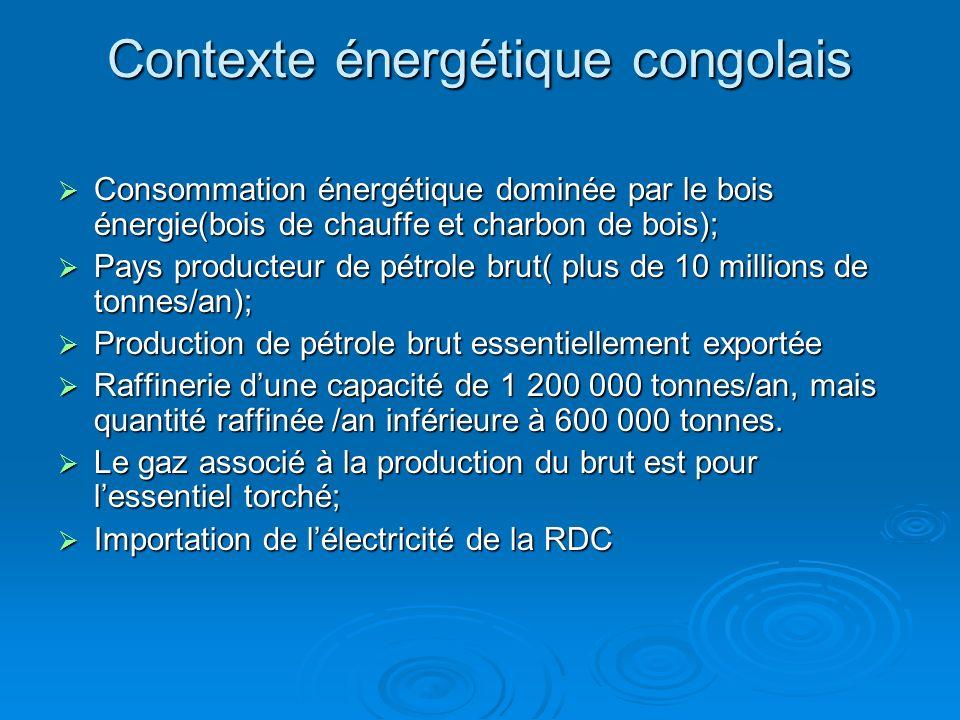 Contexte énergétique congolais