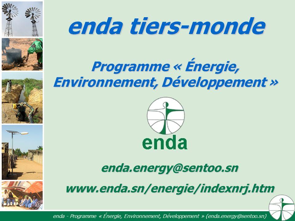 enda tiers-monde Programme « Énergie, Environnement, Développement »