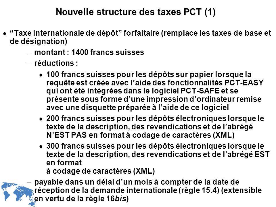 Nouvelle structure des taxes PCT (1)