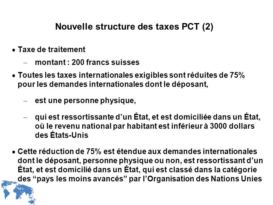 Nouvelle structure des taxes PCT (2)