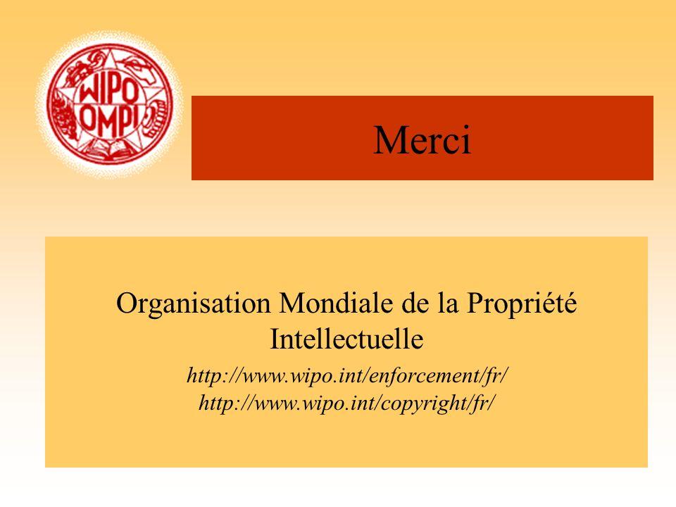 Merci Organisation Mondiale de la Propriété Intellectuelle