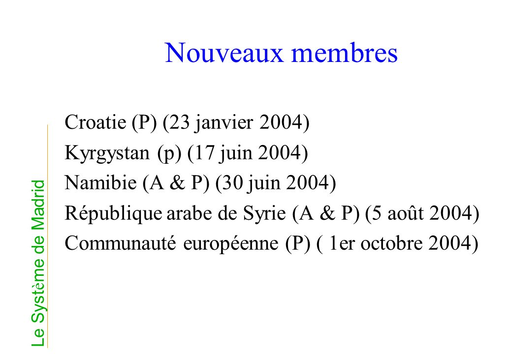 Nouveaux membres Croatie (P) (23 janvier 2004)
