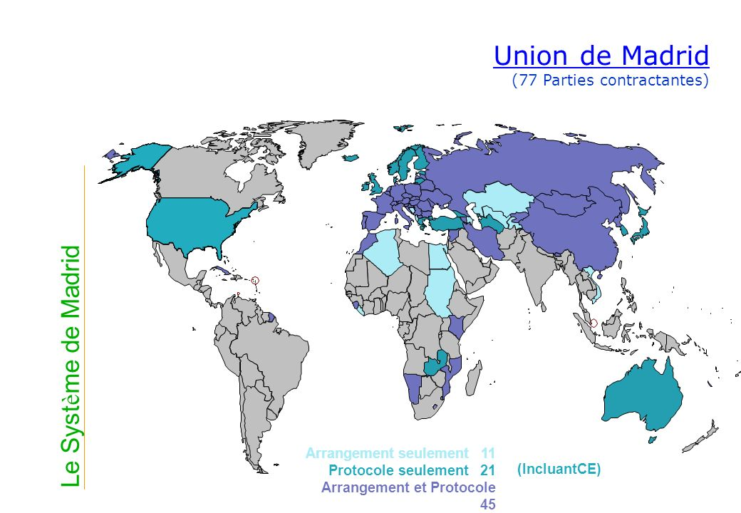 Union de Madrid (77 Parties contractantes)