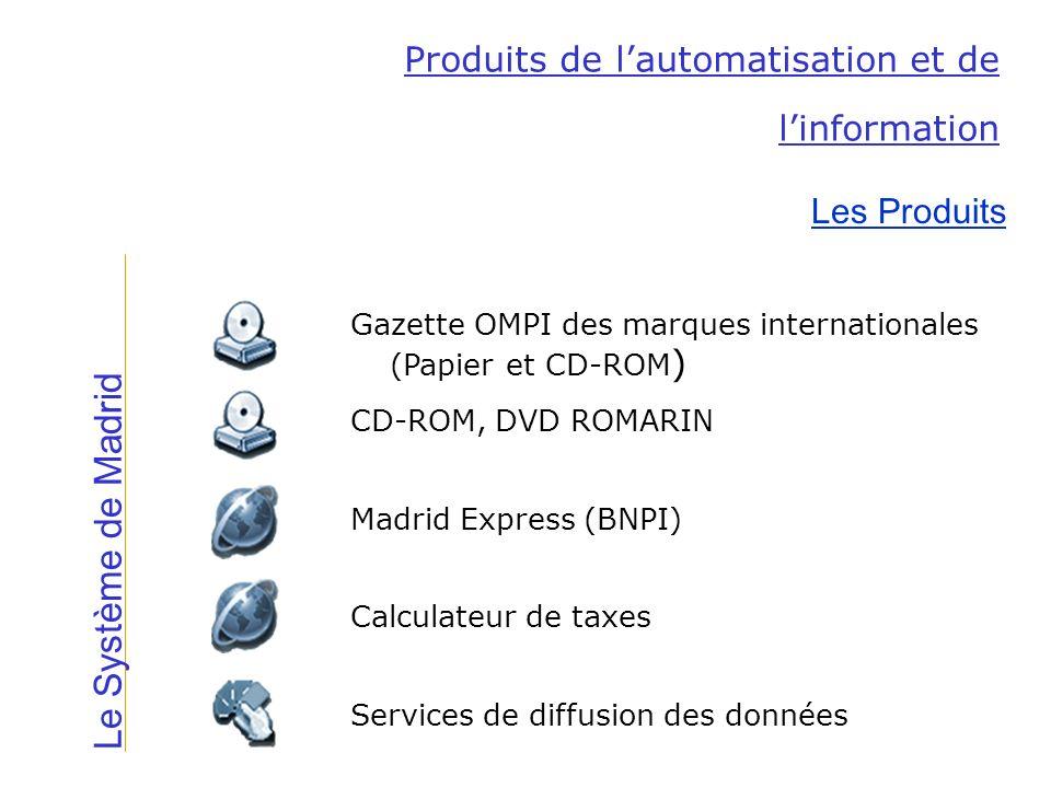 Le Système de Madrid Produits de l'automatisation et de l'information