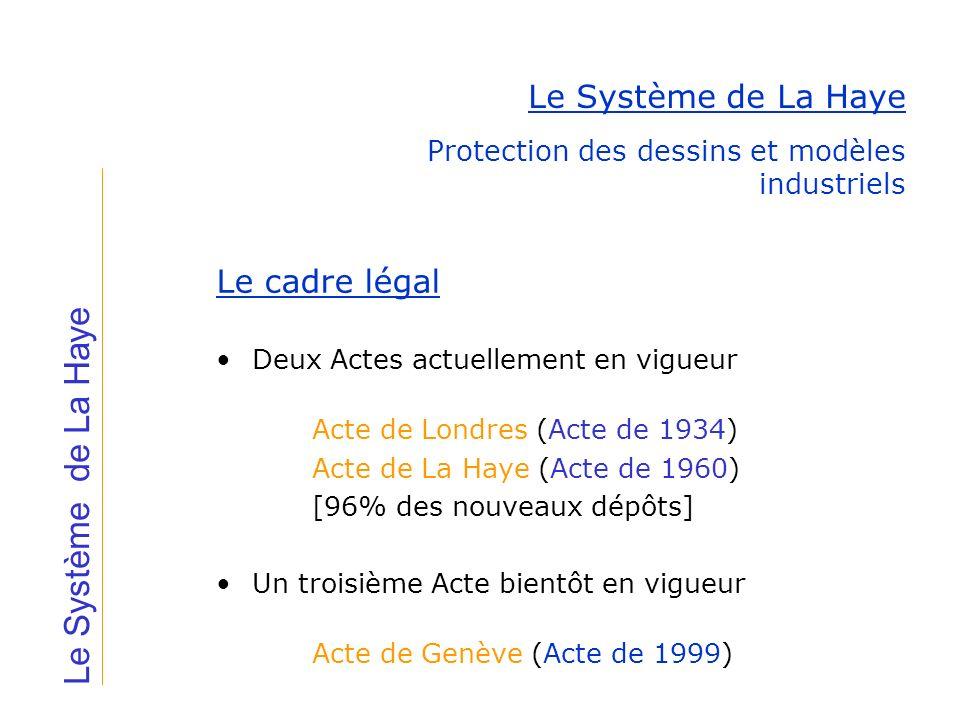 Le Système de La Haye Le Système de La Haye Le cadre légal