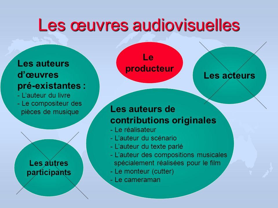 Les œuvres audiovisuelles