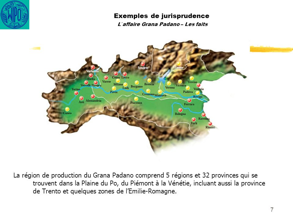 Exemples de jurisprudence L´affaire Grana Padano – Les faits