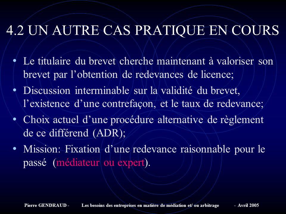 4.2 UN AUTRE CAS PRATIQUE EN COURS