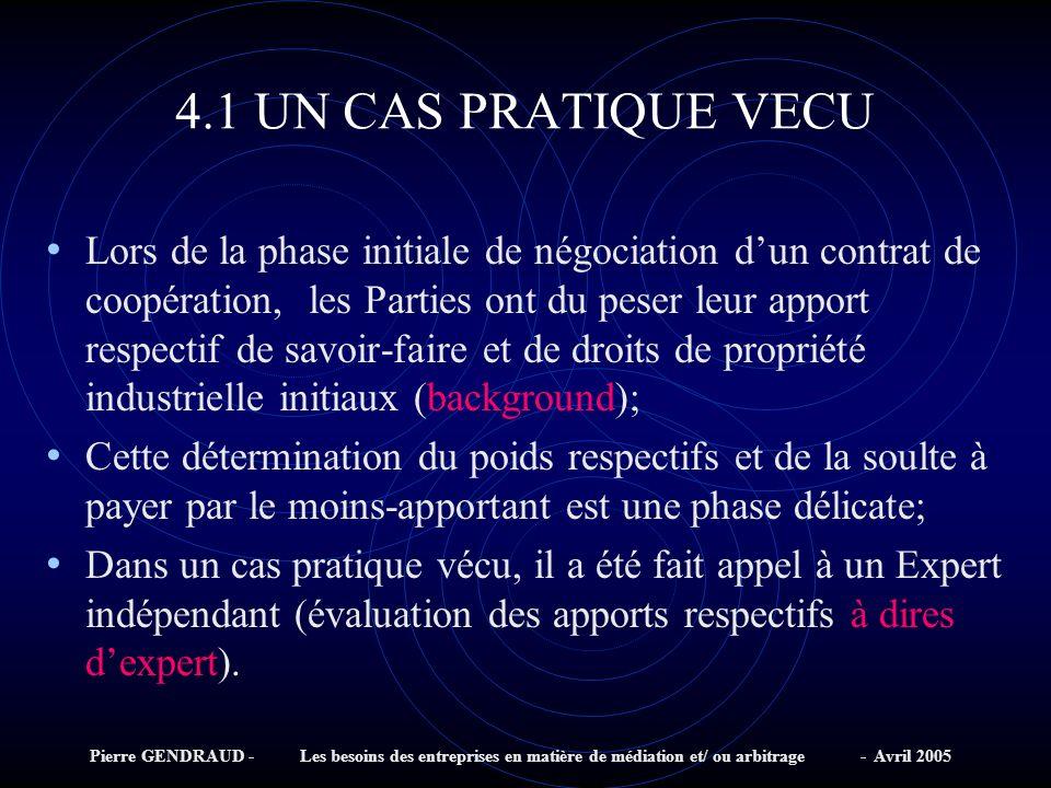 4.1 UN CAS PRATIQUE VECU