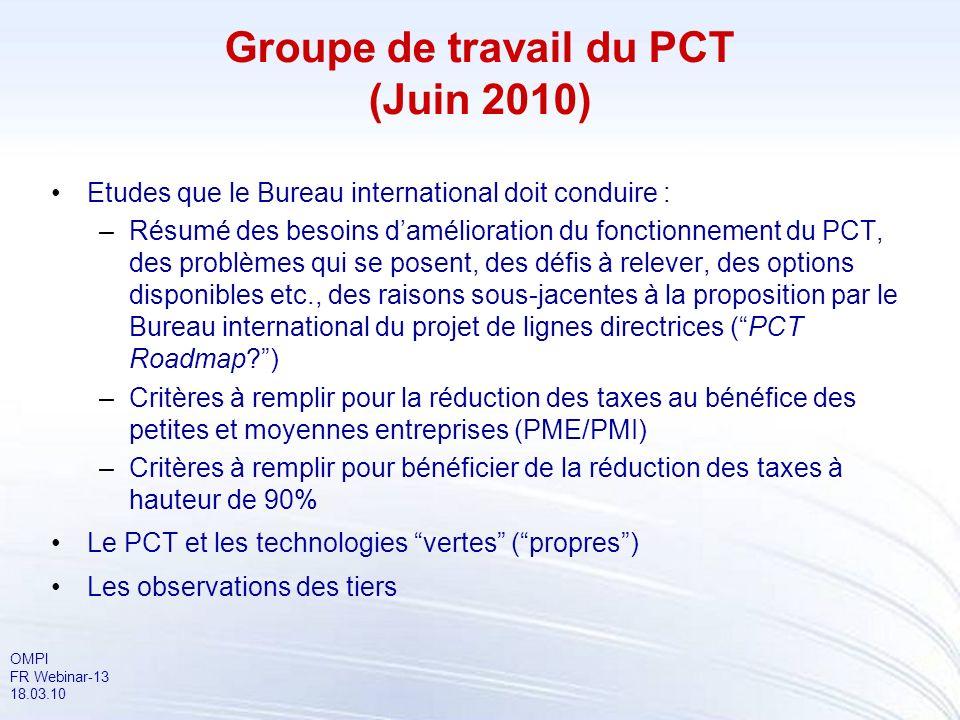 Groupe de travail du PCT (Juin 2010)