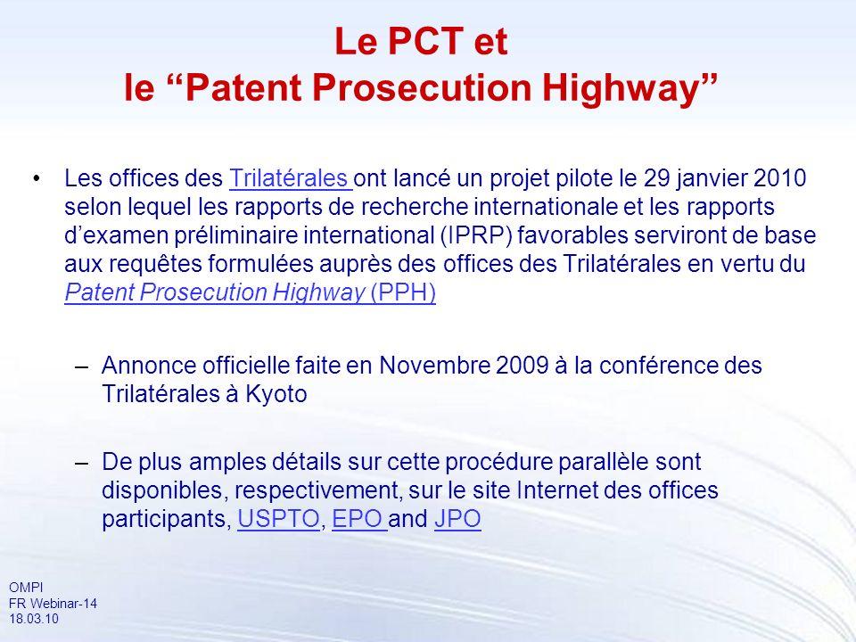 Le PCT et le Patent Prosecution Highway