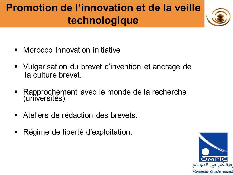 Promotion de l'innovation et de la veille technologique