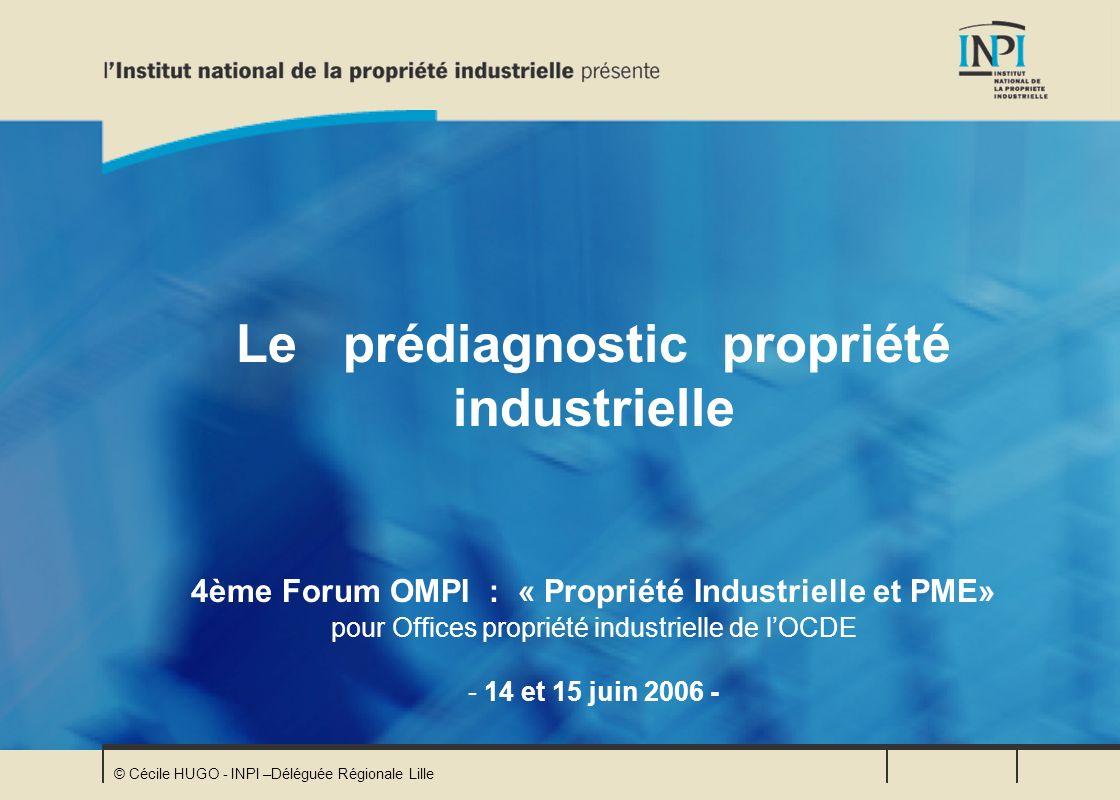 Le prédiagnostic propriété industrielle 4ème Forum OMPI : « Propriété Industrielle et PME» pour Offices propriété industrielle de l'OCDE - 14 et 15 juin 2006 -