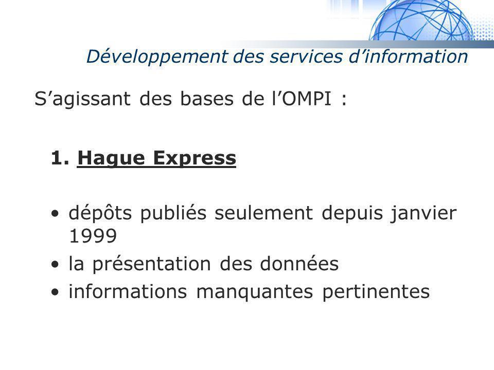 Développement des services d'information