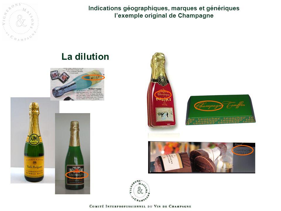 Indications géographiques, marques et génériques l'exemple original de Champagne