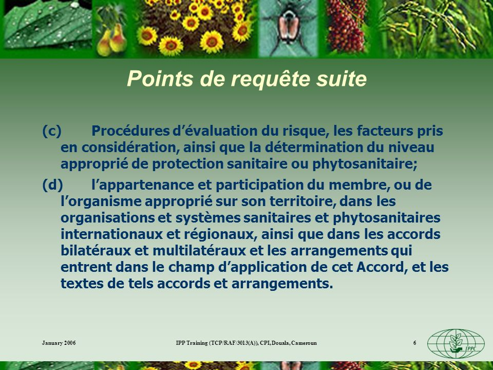 Points de requête suite