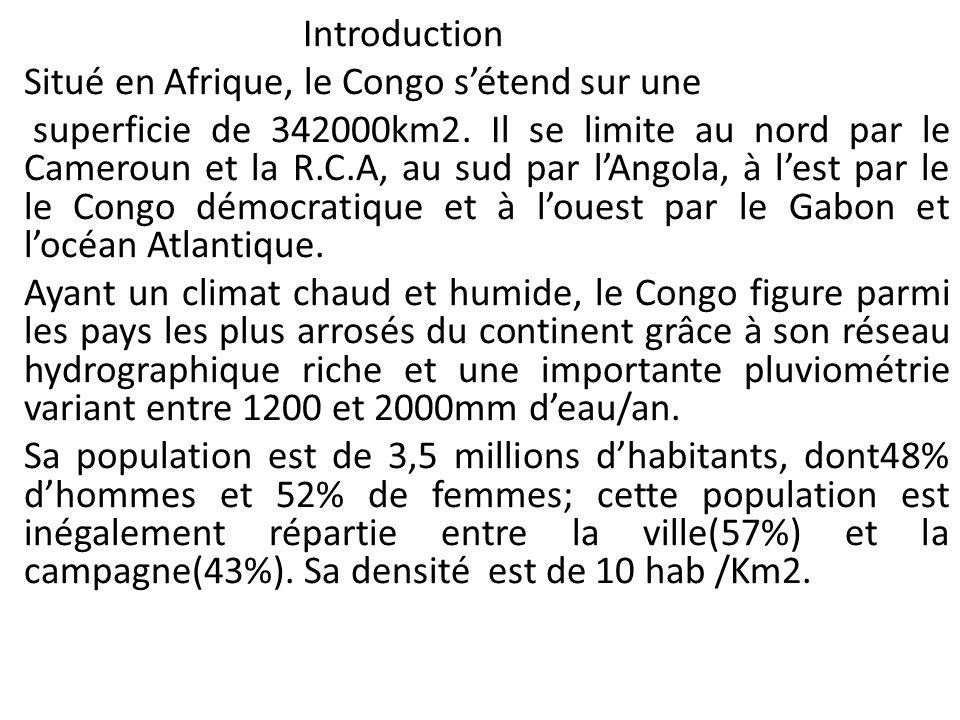 IntroductionSitué en Afrique, le Congo s'étend sur une.