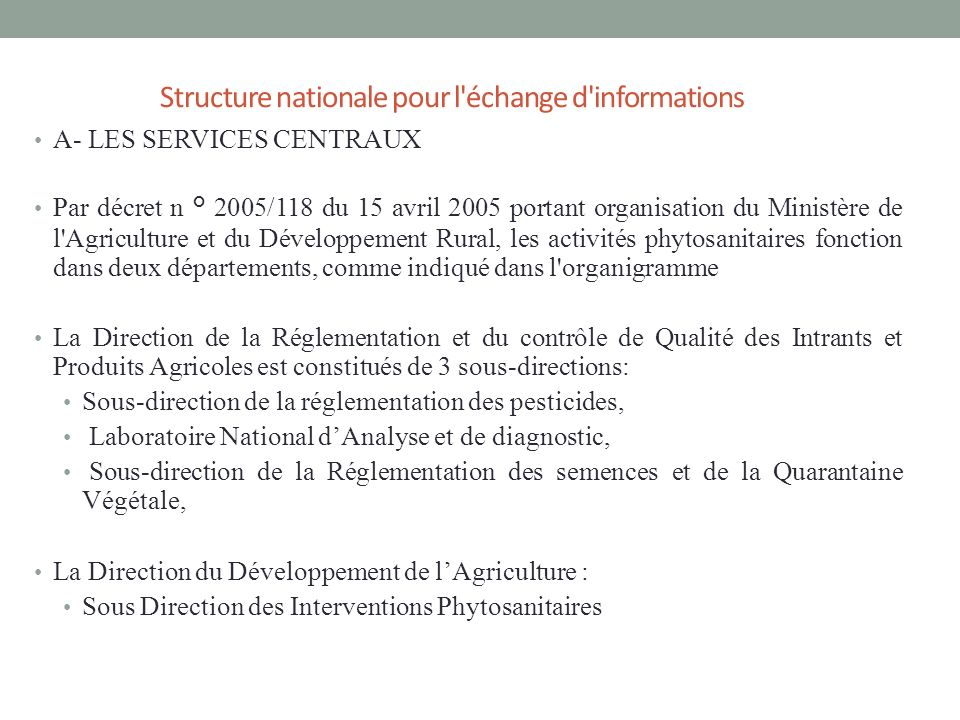 Structure nationale pour l échange d informations