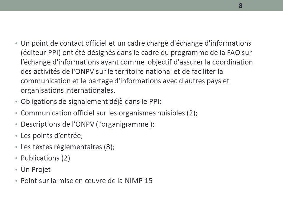 Processus national d echange d informations au cameroun - Office national de publication et de communication ...