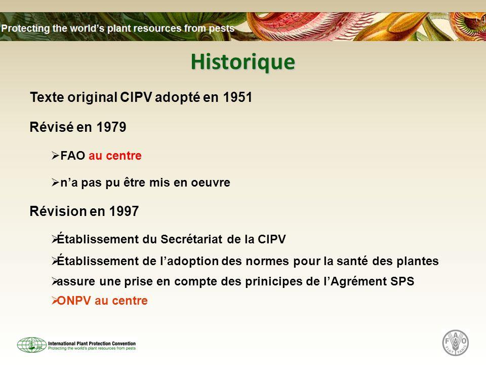 Historique Texte original CIPV adopté en 1951 Révisé en 1979