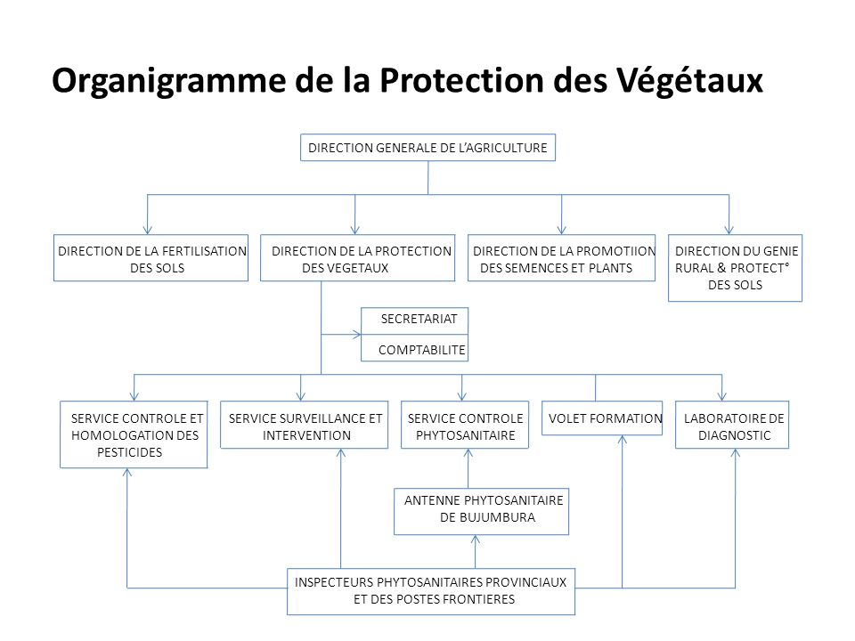 Organigramme de la Protection des Végétaux
