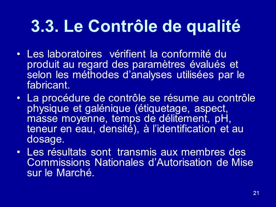 3.3. Le Contrôle de qualité