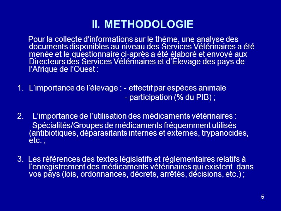 II. METHODOLOGIE