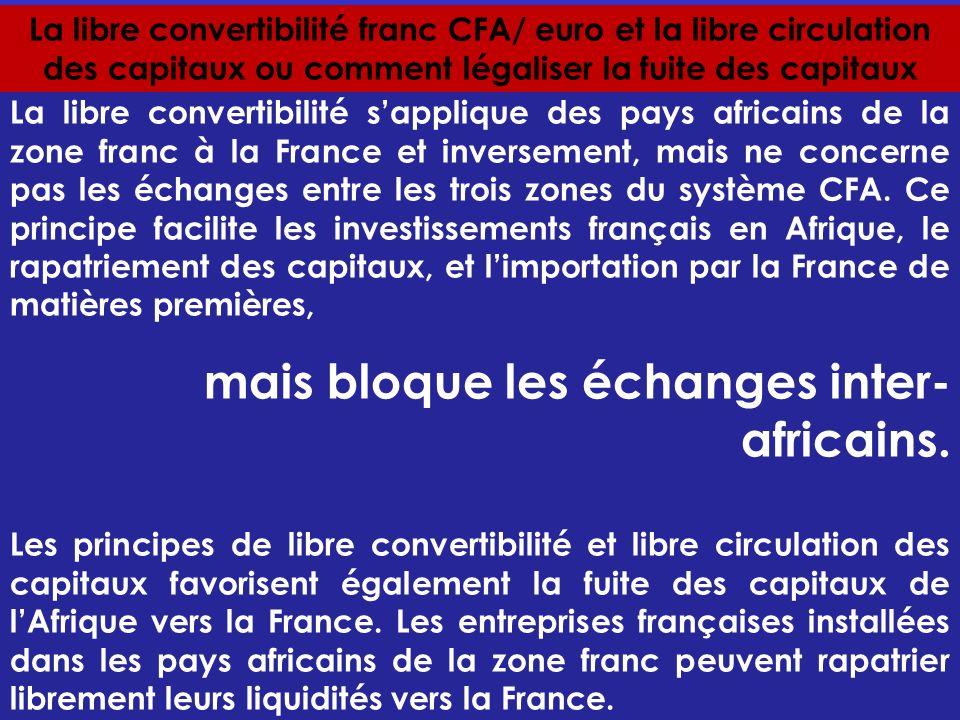 mais bloque les échanges inter-africains.