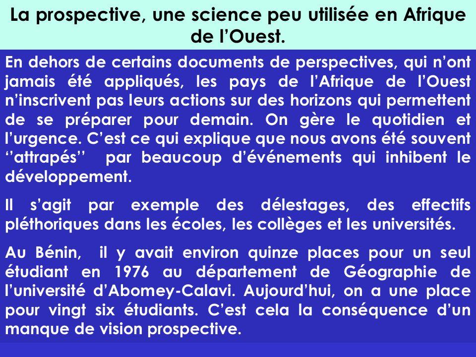 La prospective, une science peu utilisée en Afrique de l'Ouest.