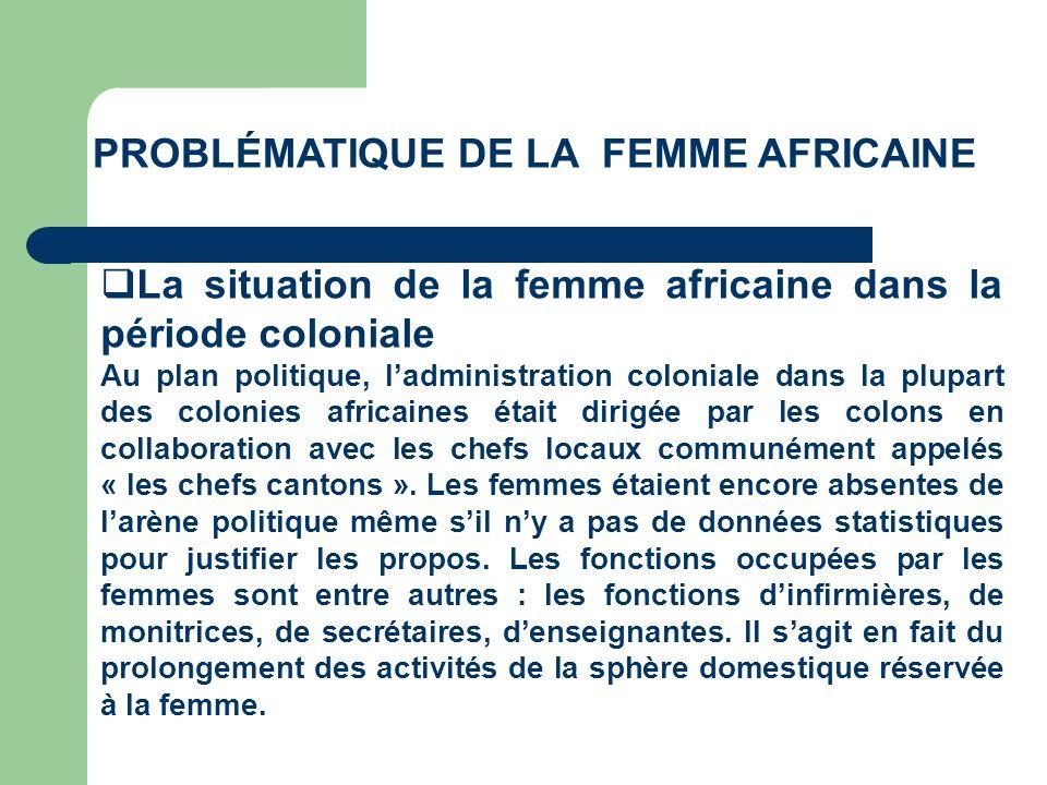 Problématique de la femme AFRICAINE