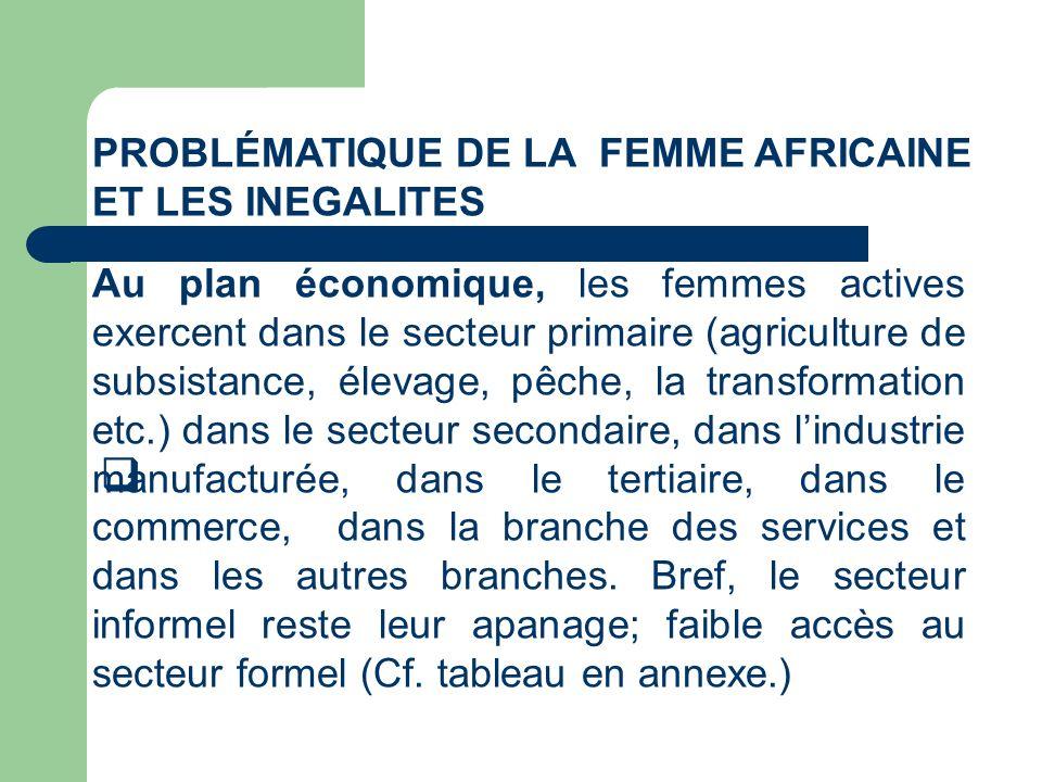Problématique de la femme AFRICAINE ET LES INEGALITES