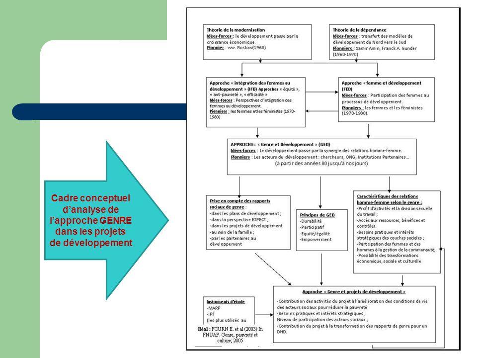 Cadre conceptuel d'analyse de l'approche GENRE dans les projets de développement