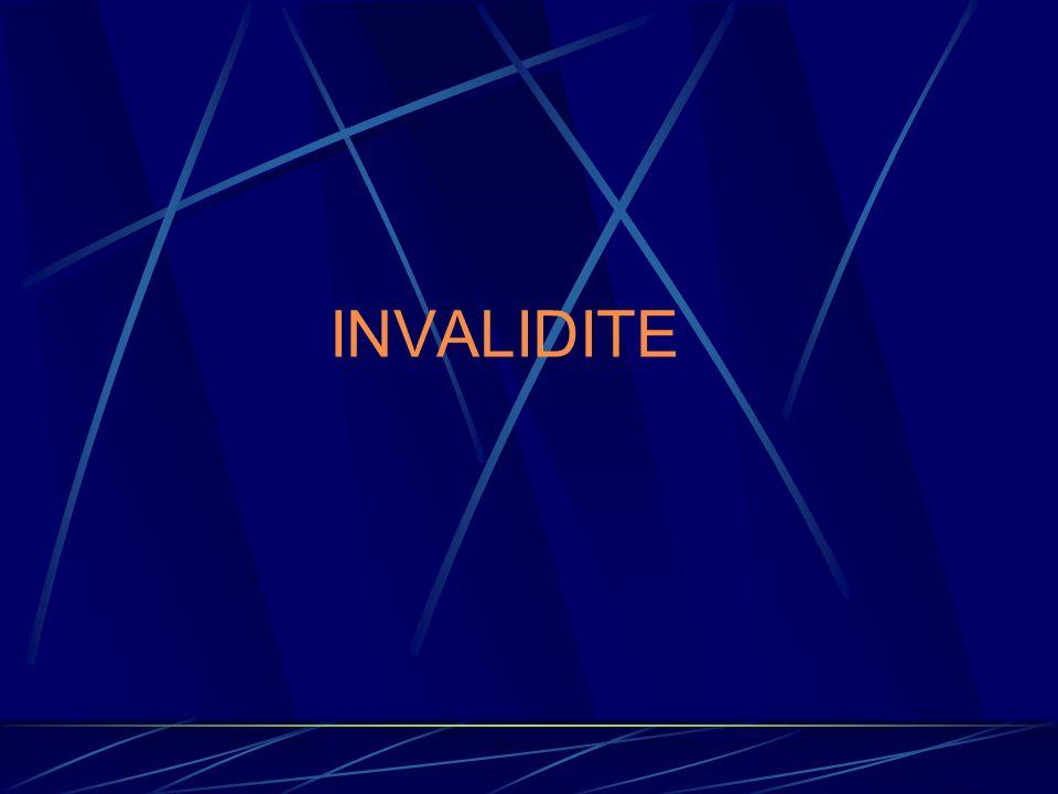 INVALIDITE