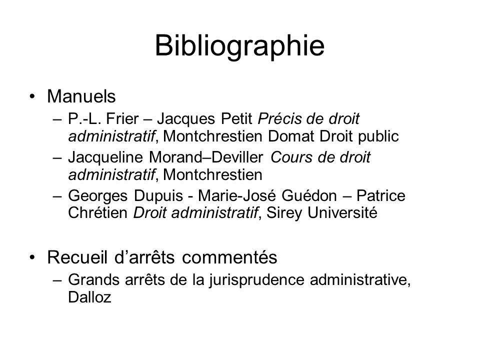 Bibliographie Manuels Recueil d'arrêts commentés