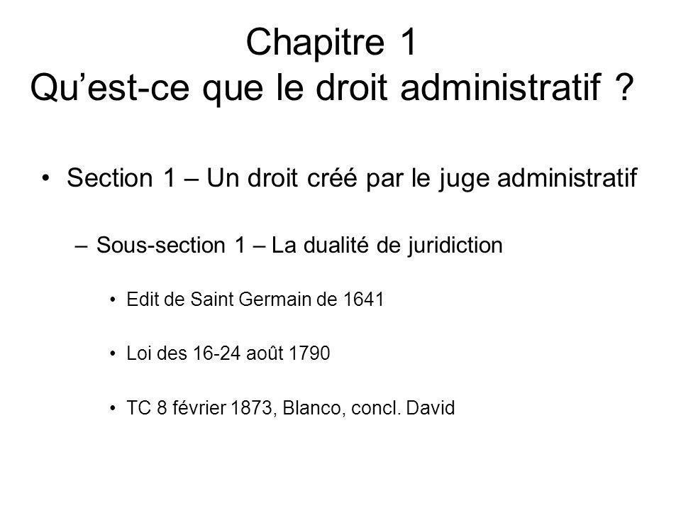 Chapitre 1 Qu'est-ce que le droit administratif