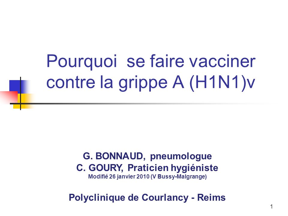 Pourquoi se faire vacciner contre la grippe A (H1N1)v