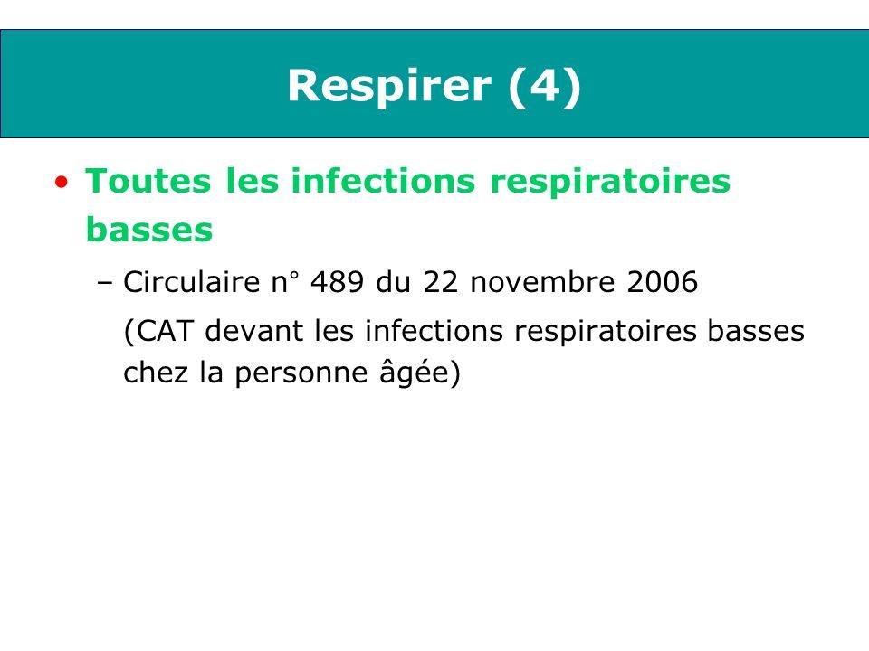 Respirer (4) Toutes les infections respiratoires basses