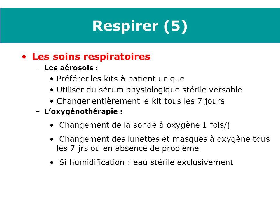 Respirer (5) Les soins respiratoires