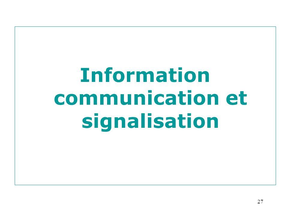 Information communication et signalisation