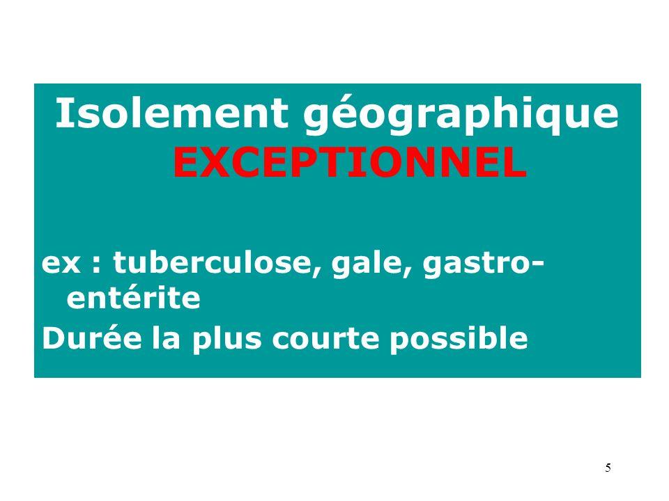 Isolement géographique EXCEPTIONNEL