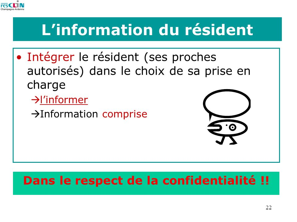 L'information du résident