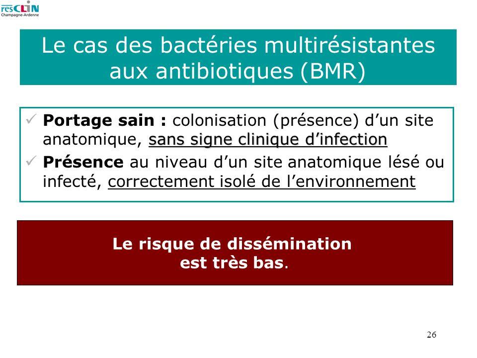 Le cas des bactéries multirésistantes aux antibiotiques (BMR)
